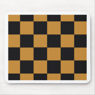 Mellow Mustard Checkerboard Mouse Pad