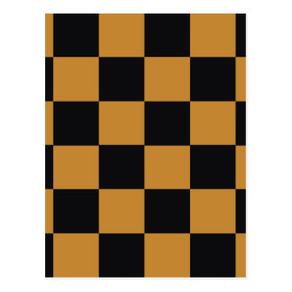 Mellow Mustard Checkerboard Postcard