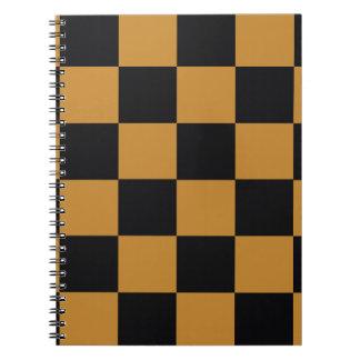 Mellow Mustard Checkerboard Spiral Notebook