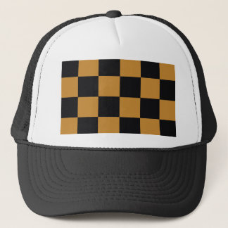 Mellow Mustard Checkerboard Trucker Hat