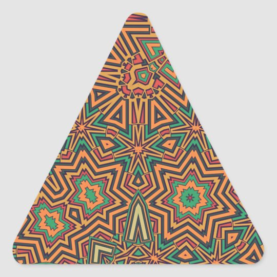 Mellow orange retro triangle sticker