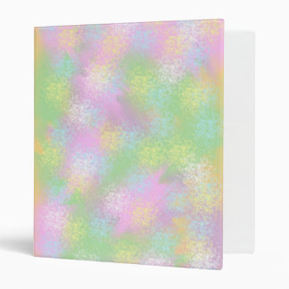 Mellow Outbursts Of Color Abstract Digital Art 3 Ring Binders