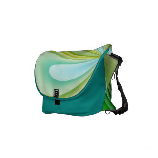 Mellow Yellow and Green Waves Messenger Bag