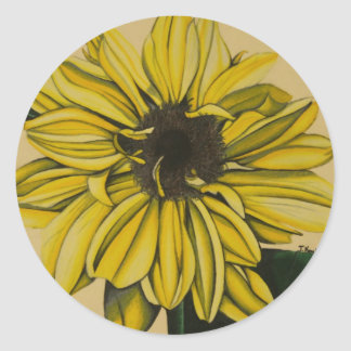 Mellow Yellow by Jenny Koch Classic Round Sticker
