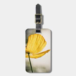 Mellow Yellow Poppy Photo Luggage Tags