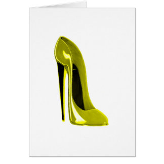 Mellow Yellow Stiletto Shoe Card