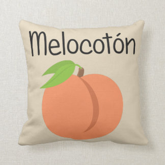 Melocoton (Peach) Throw Pillow