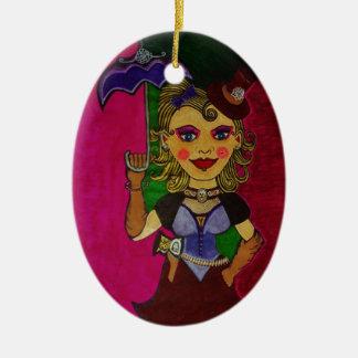 """Melody"" Ceramic Oval Ornament"