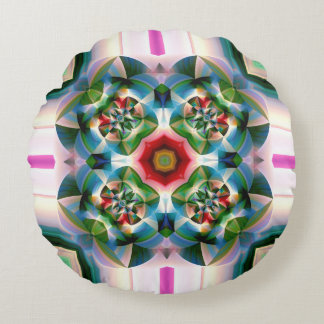 Melody in Abstract Round Pillow