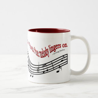 Melody Lingers On Two-Tone Coffee Mug