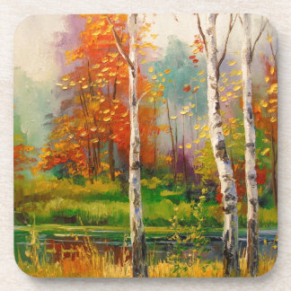 Melody of autumn beverage coasters