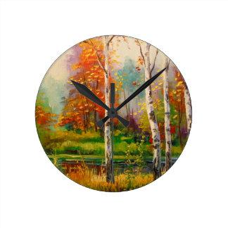 Melody of autumn wall clock