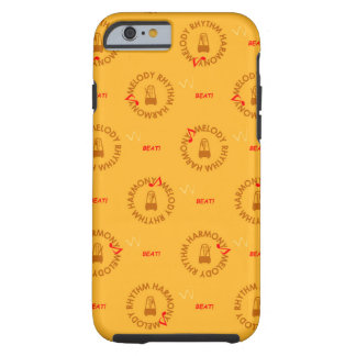 MELODY RHYTHM HARMONY (yellow background color Tough iPhone 6 Case