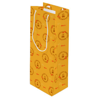 MELODY RHYTHM HARMONY (yellow) Wine Gift Bag