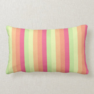 Melon Ball Striped Pattern Lumbar Pillow