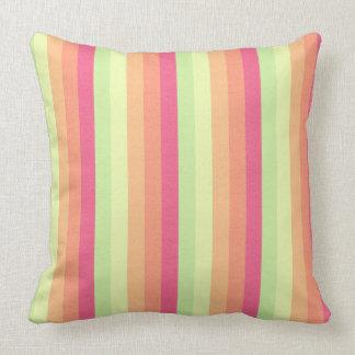 Melon Ball Striped Pattern Throw Pillow