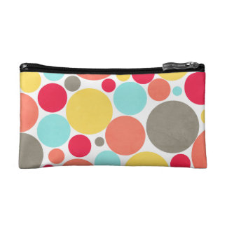Melon, Blue, Yellow, Pink, Gray Polka Dotted Bag