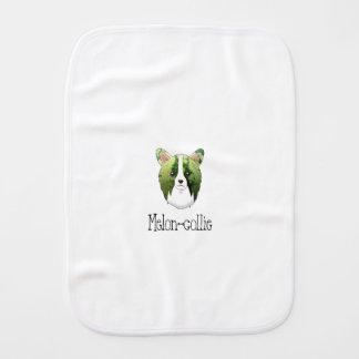 melon collie burp cloth