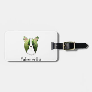 melon collie luggage tag