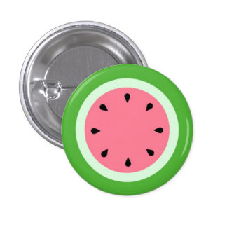Melon d'eau / Watermelon 1 Inch Round Button