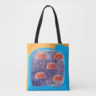 Melon drops tote bag