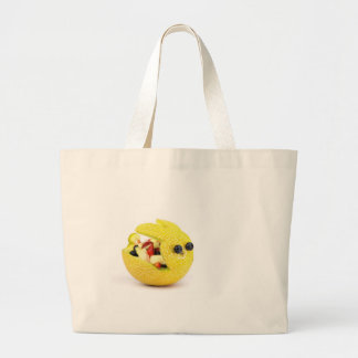 Melon Easter bunny filled with summer fruit Large Tote Bag