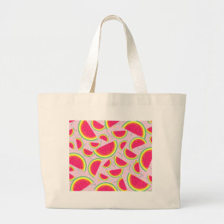 Melon Fiesta Pattern Large Tote Bag