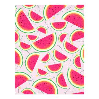 Melon Fiesta Pattern Letterhead