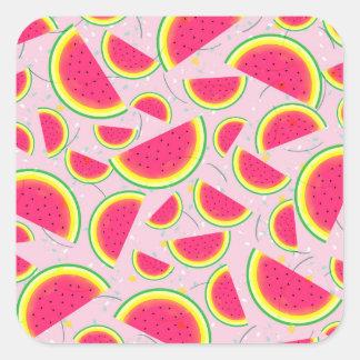 Melon Fiesta Pattern Square Sticker
