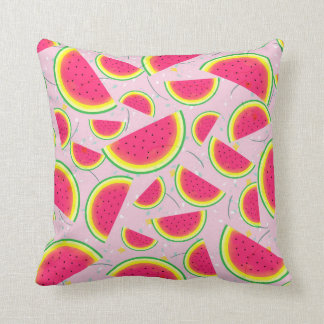 Melon Fiesta Pattern Throw Pillow