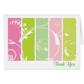Melon Floral Thank You Cards