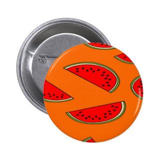 Melon fruit pattern 2 inch round button