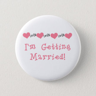 Melon Hearts I'm Getting Married 2 Inch Round Button