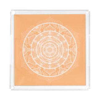 Melon Mandala Acrylic Tray