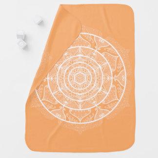 Melon Mandala Baby Blanket