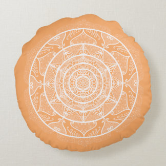 Melon Mandala Round Pillow