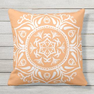 Melon Mandala Throw Pillow