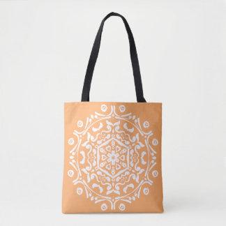 Melon Mandala Tote Bag