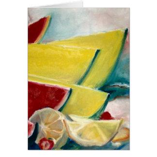 Melon Melange print Card