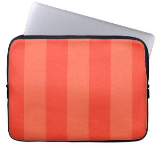 Melon Orange Stripes Electronics Bag