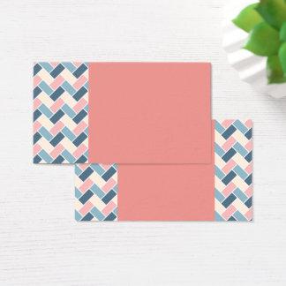 Melon Pastel Geometric Business Cards