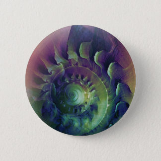 Melon Shell Abstract 2 Inch Round Button