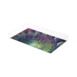 Melon Shell Abstract Acrylic Tray