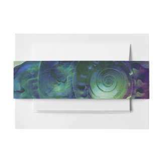 Melon Shell Abstract Invitation Belly Band