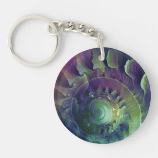 Melon Shell Abstract Keychain