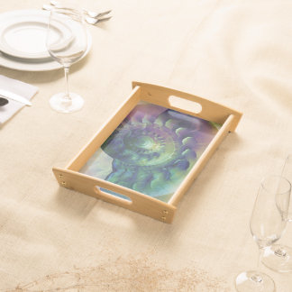 Melon Shell Abstract Serving Tray