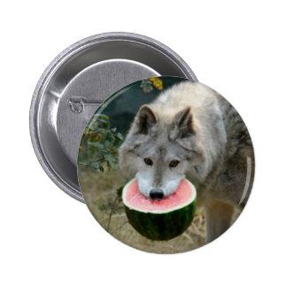 Melon Wolf 2 Inch Round Button