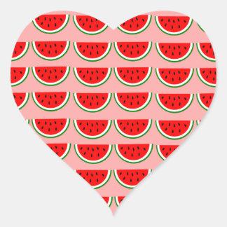 Melons samples heart sticker