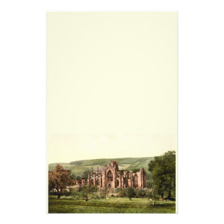Melrose Abbey, Scottish Borders, Scotland Stationery Paper