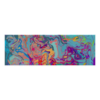 MELTED BEZIER GLITCH HORIZONTAL POSTER